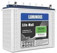 Luminous 150 Amp tubular battery- Life Max 18075