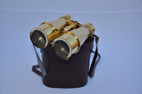 Mouse Over Image To Zoom Vintage Nautical Binocular