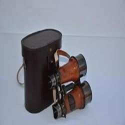 Vintage Full Brass Antique Binocular With Leather Case
