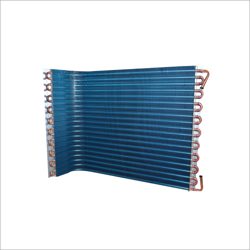 Blue Air Conditioner Condenser Coil