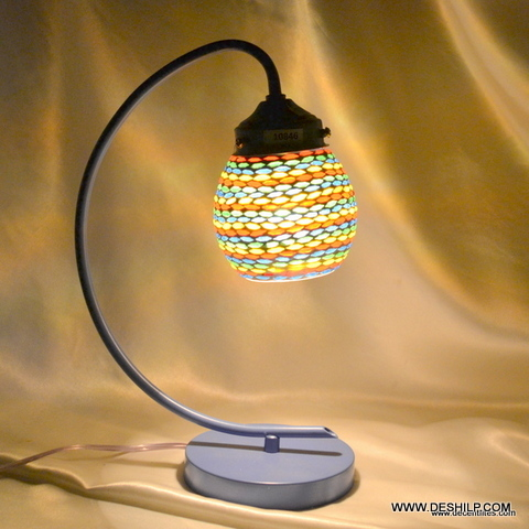 Vintage Style Antique Brass & Glass Touch Bedside Desk Table Light Lamp Beautiful Cut Glass