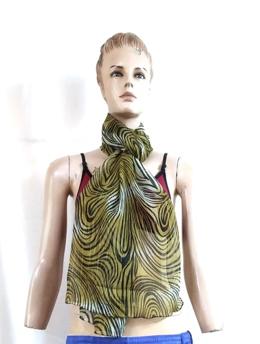 100% Polyester chiffon printed scarves