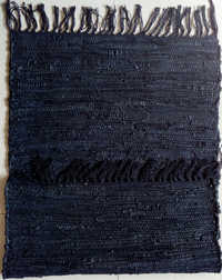 Leather and Cotton Chindi Rug