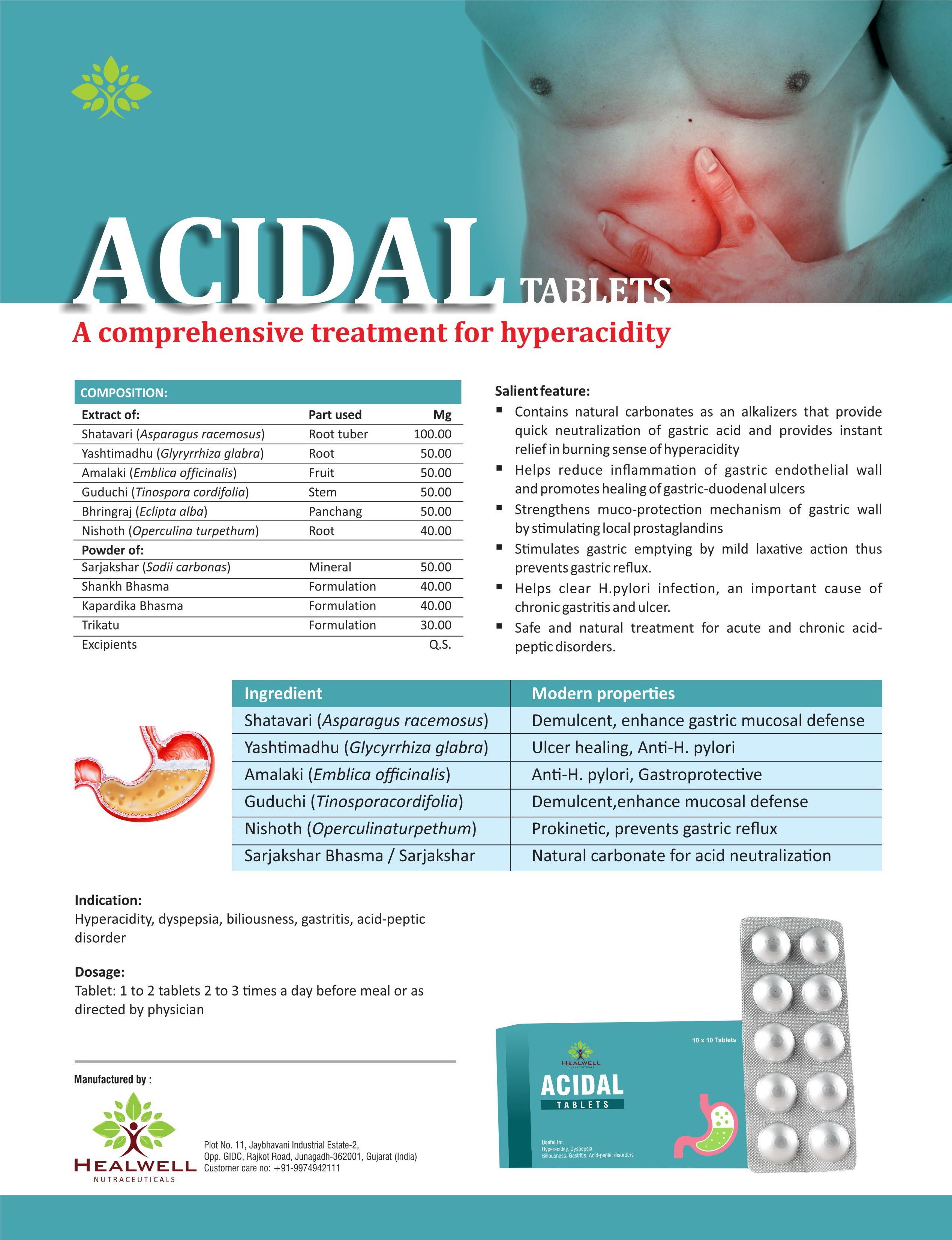 Herbal Acidal Tablets