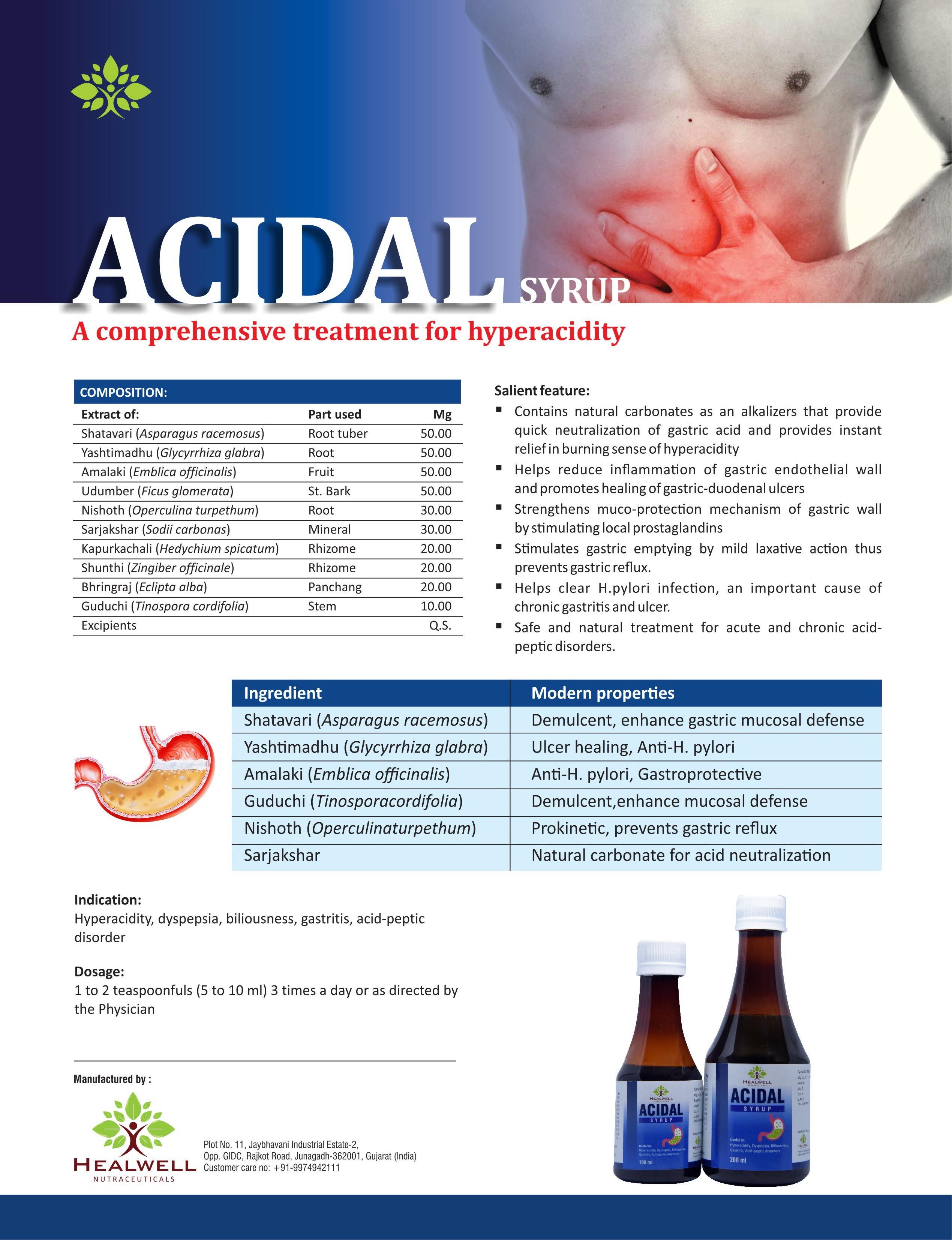 Herbal Acidal Syrup