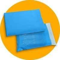 Blue Color Plastic Courier Bags