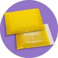 Yellow Color Courier Bags