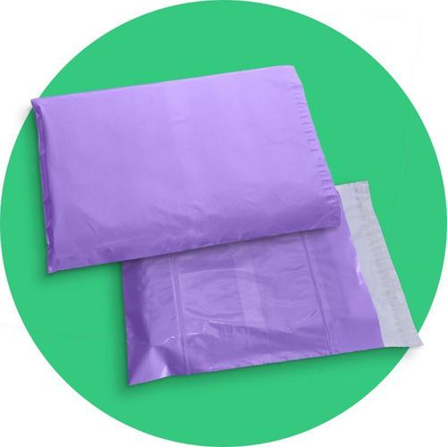 Purple Colored Courier Bags