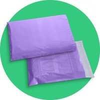 Purple Colored Plastic Courier Bags