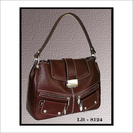 Ladies Brown Leather Handbags