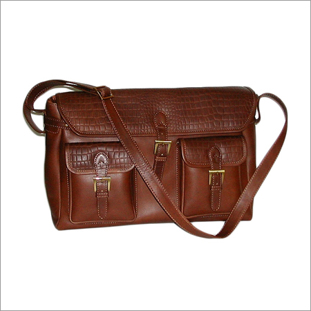 Men Brown Leather Handbags