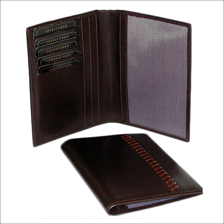 Genuine Brown Leather Travel Holder