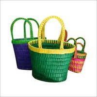 Palm Leaf Basket Set