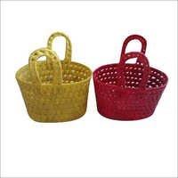 Palm Leaf Handle Basket Set