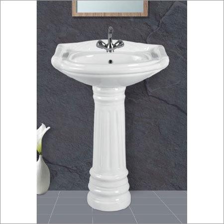 Rajwadi Set Pedestal Wash Basin