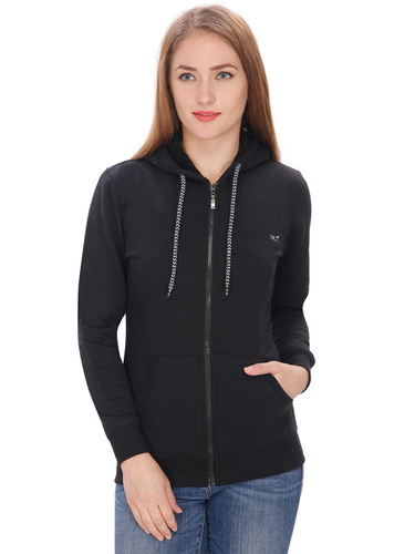 LADIES FANCY HOODED SWEAT SHIRTS