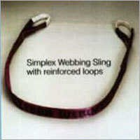 Simplex Webbing Sling With Reinforced Loops