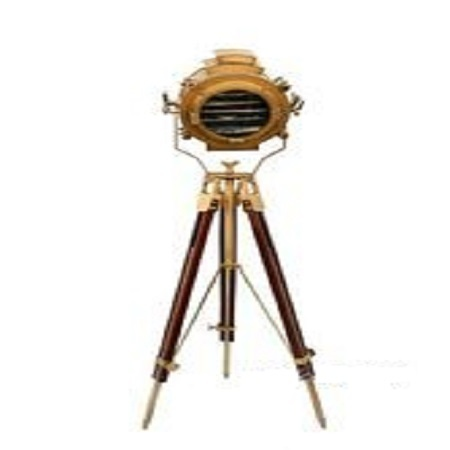 Antique Floor Searchlight-Antique Tripod Floor Spot