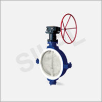 Lined Butterfly Valve Gear Type