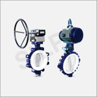 Lined Butterfly Valve Lug Type Gear Operated