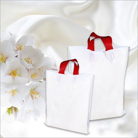 White Colour Retail Bags