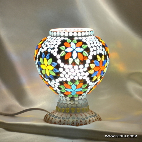 Modern White Round Glass Globe Bedside Table Lights Lamps Table & Floor Light Lamp Collection