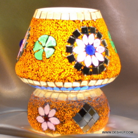 Table lamp Tiffany, Hand made Table lamp,Style Multicolor , Beautiful Cut Glass Table Lamp