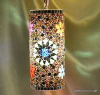 Glass Star Lamp - Special Colors Nazar Hanging Lamp - Blue