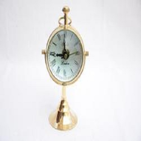Nautical Maritime Brass Desktop Table Clock