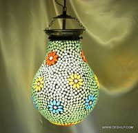 Mosaic Art Colorful Glass Hanging