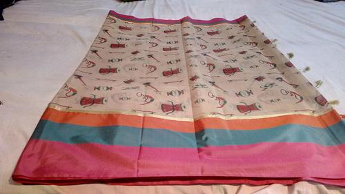 Banarasi Cotton Silk Weawing & Printed Sarees