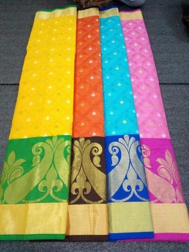 Banarasi Monika Cotton Silk Weawing Designer Saree