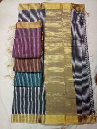 Banarasi Cotton  Silk Weawing Mulit Designer Saree