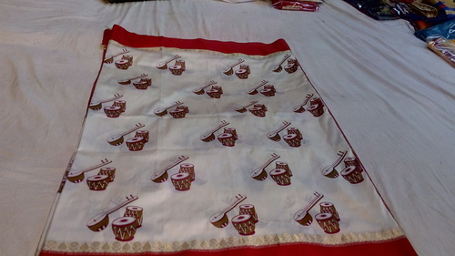 Banarasi  Satan Patta Weawing & Printed Saree