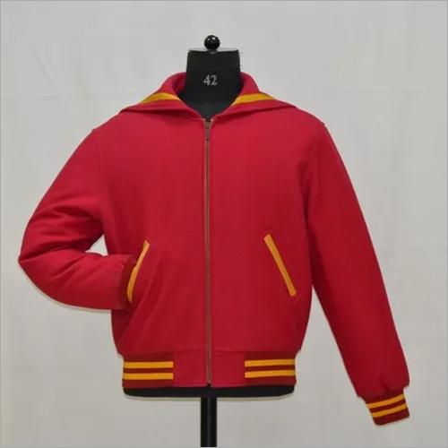 Sailor Collar Full Wool Varsity Jacket