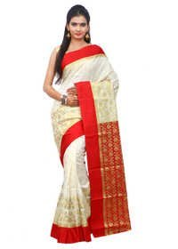 Banarasi Semi Katan Double Skirt Traditional Saree
