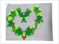 Heart Print Embroidered Table Mats