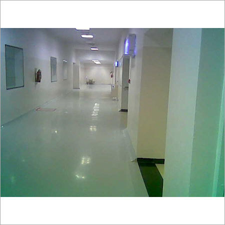 Epoxy Floor And Pu Wall Coating Of A Clean Room