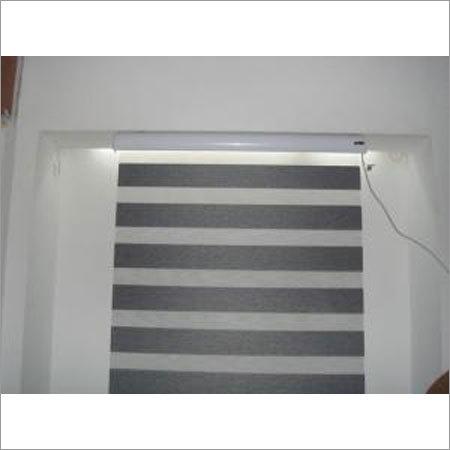 Zebra Blackout Electric Roller Blind