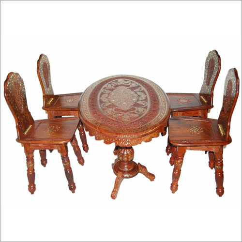 "Oval table set 48""*24"" with four chairs"