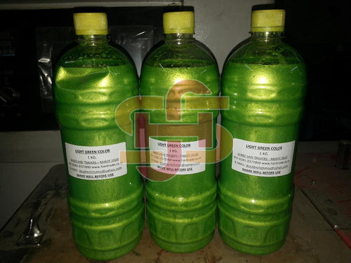 Light Green Metalic Liquid Color