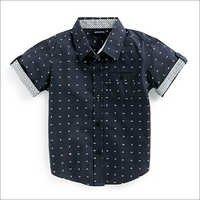Boys Shirt - Black Aop Print