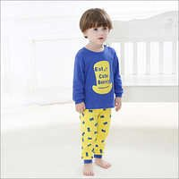 Cute Bunny Print Blue T-Shirt And Pants Set