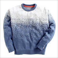 Light Blue Printed Full Sleeves Sweatshirts