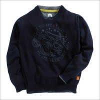 Navy Car Print Full Sleeves Sweatshirts