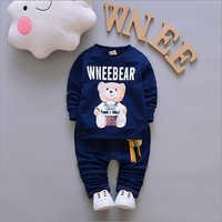 Wnee Bear Print Navy T-Shirt And Pant Set