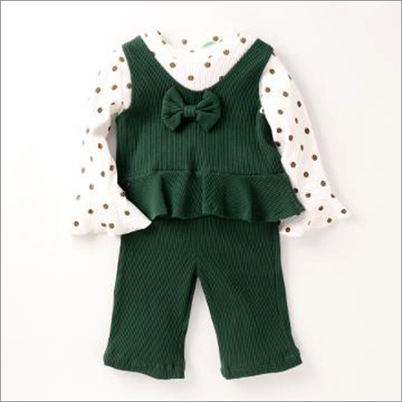 Stylish Green Top And Pant Set