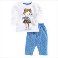 Cute Girl Printed T-Shirt & Pant Set