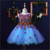 Trendy Flowers And Embroidered Party Dress