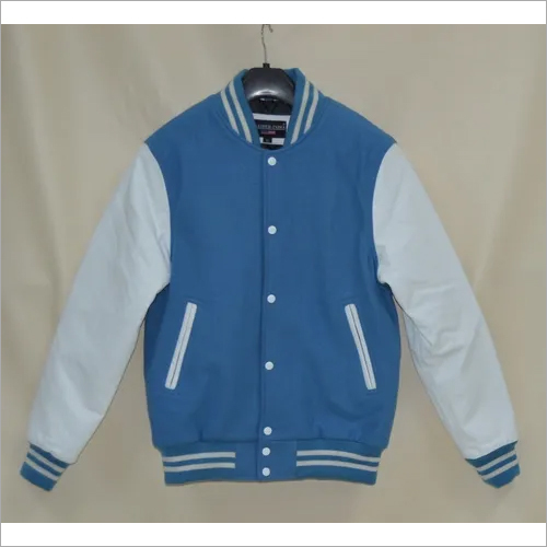 Men's Wool Leather Varsity Jacket